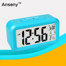 electronic Mini ce travel digital morning desk alarm clock with backlight