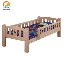 Natural pine wood cheap high quality solid cot kids small beds for sale