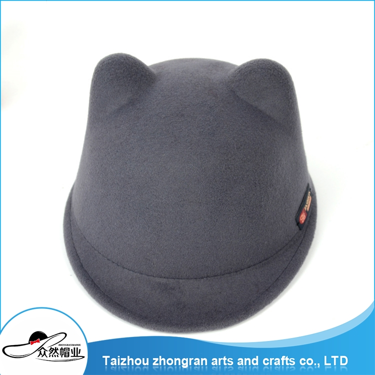 China Design Popular Round Top Felt Hats Hats Wholesale China