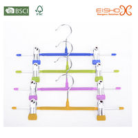 Eisho colorful hooks plastic children metal hanger