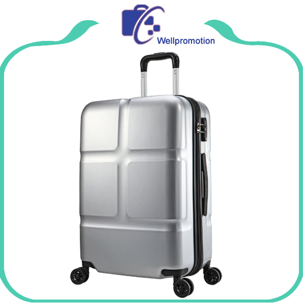 High-end custom silver PC hardware travel luggage suitcase