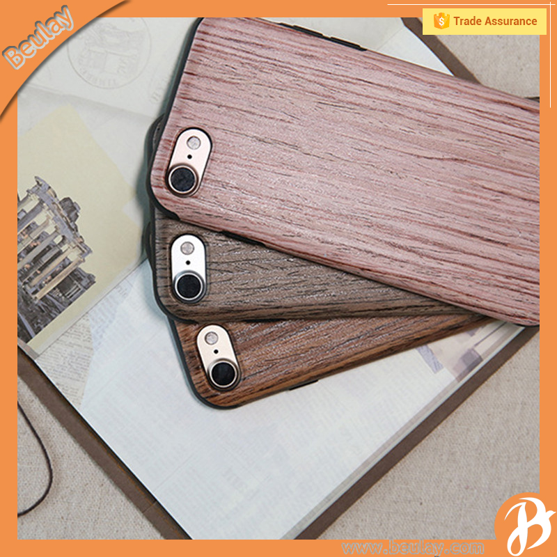 Rock original luxury wood tpu case for iphone 7 rosewood cover