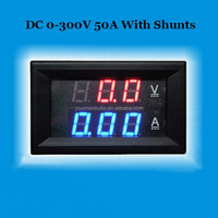 Factory Directly Led Dual Colors Display Shunt DC 0-300V 50A Digital Volt Current Meter
