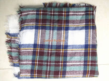Lady Autumn & Winter Shawl Cozy multi color Blanket Oversized Tartan Scarf Wrap