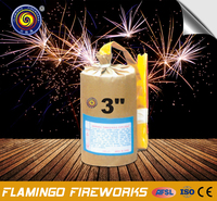"Good quality brandy 3"" Cylinder Shell fireworks cake"