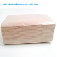 Hot Sale China Unbleached Bamboo Facial Tissue