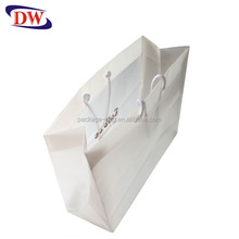 CPE rope handle square bottom plastic shopping bags with logo