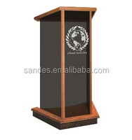 Glass Lectern Black Acrylic Wood Church Lectern