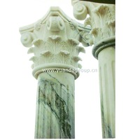 High quality house decorative pillars designs marble columns cap for sale