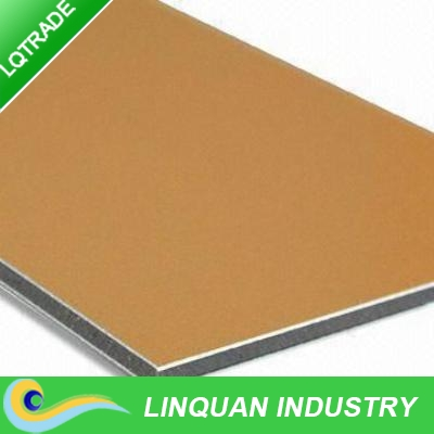 Modern construction material for metric color PVDF coating Fireproof aluminum composite panel