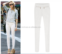 Z10544A Wholesale high quality slim fit chino pants women fashion elastic pencil pants