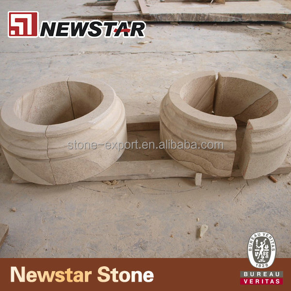 Natural stone decorative pillars for homes