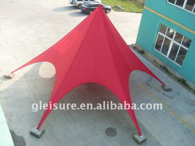 Elegant Aluminum 6mx5m star tent star shade star canopy for out door event