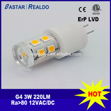 dongguan realdo led g4 cp 3w eastarled led ceramic bulb