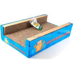 Cat Scratcher Sofa Lounge including free cat-nip Cardboard Scratch Post Cat Bed