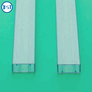 clear Antistatic transparent flexible rectangular ic packing pvc tube packaging square plastic pipe
