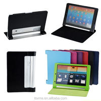 PU Leather Folding Wallet Stand Case for Lenovo YOGA B8000 10.1""