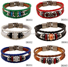 2016 Fashion DIY Braided Hadmade Leather Bracelet