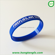 Wholesale cheap bulk embossed printed silicone bands rubber wristband bracelets