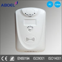 Home Kitchen Auto Usage Combustible Gas Alarm with Shut off Valve
