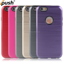 New product brushed design TPU+PC cover proetct case for iphone6