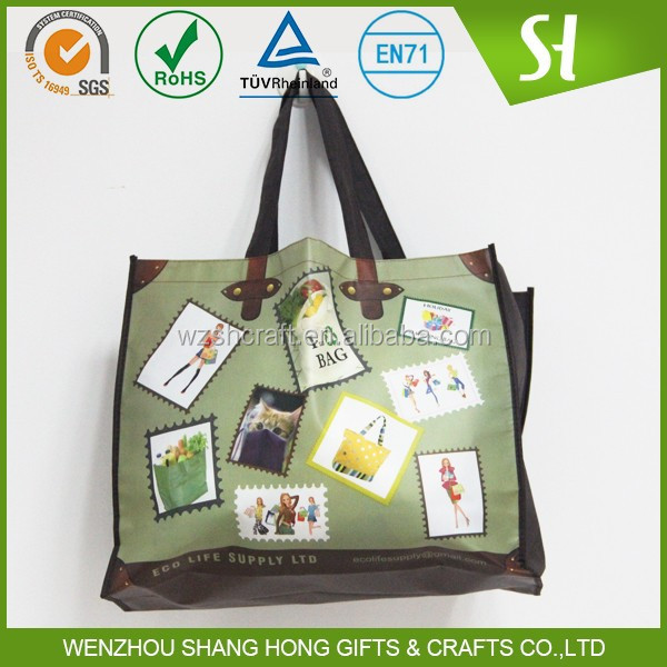 Cheap Wholesale Custom Printed Non-Woven Shopper Tote Bags