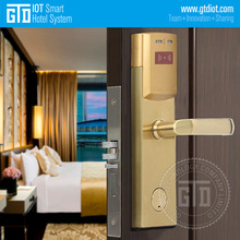 High Quality Gold Color RF Card Open Room Electronic Hotel Door Lock