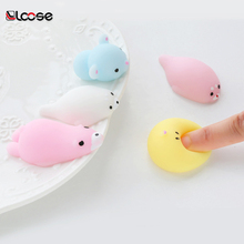2018 wholesales cute soft plastic rubber Mochi Squishy animal toys for kids
