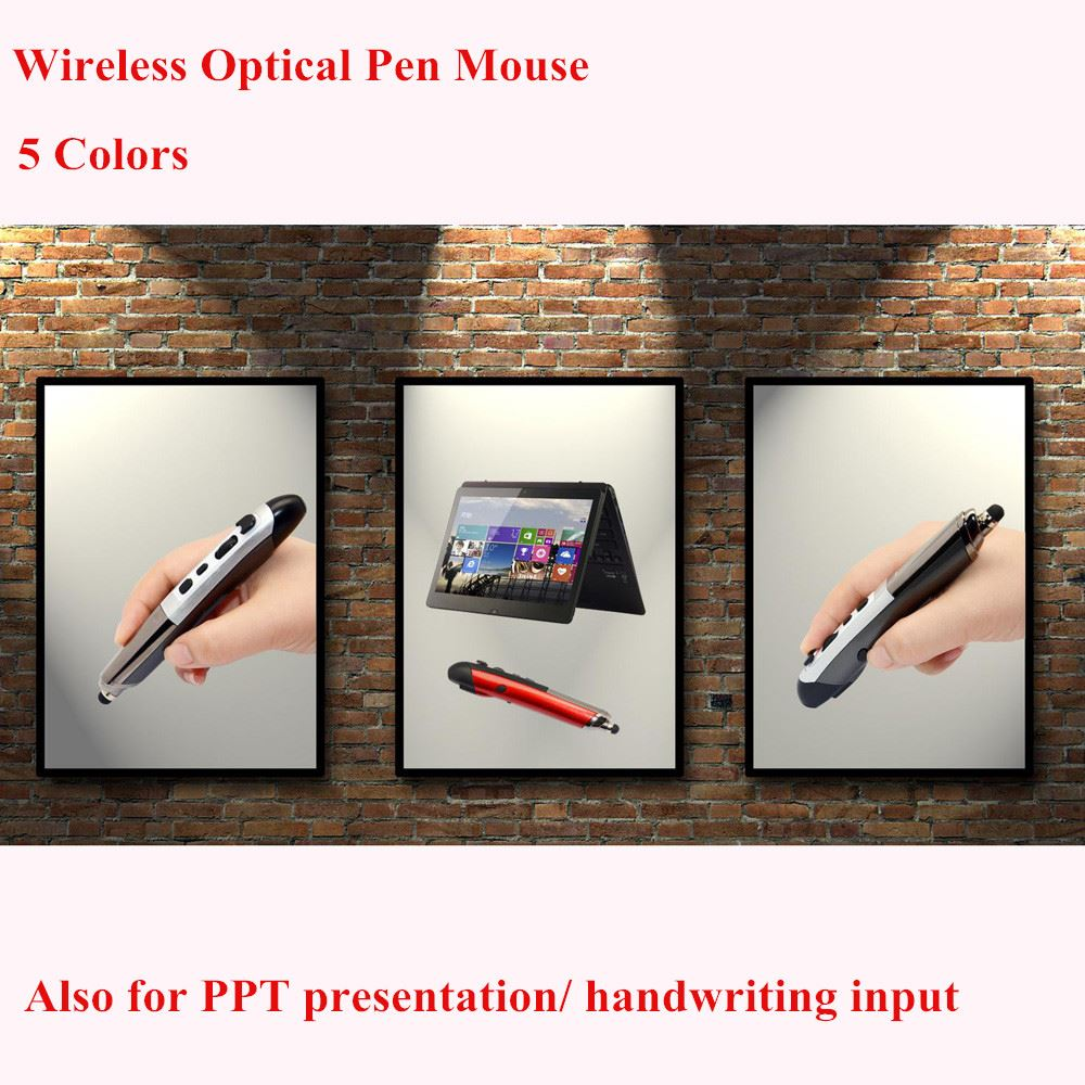 2.4GHz USB Wireless Optical Pen Mouse with Laser PPT Pointer Capacitive Touch Screen Stylus for Handwriting Input Top Quality