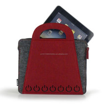 Functional wool polyester felt laptop sleeve computer bag color customized design storage case for business office bag