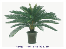 large leaves artificial green plants artificial bonsai plants with cheap price