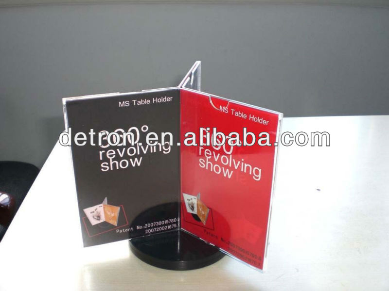 Revolving table holder/rotating acrylic menu stand a261