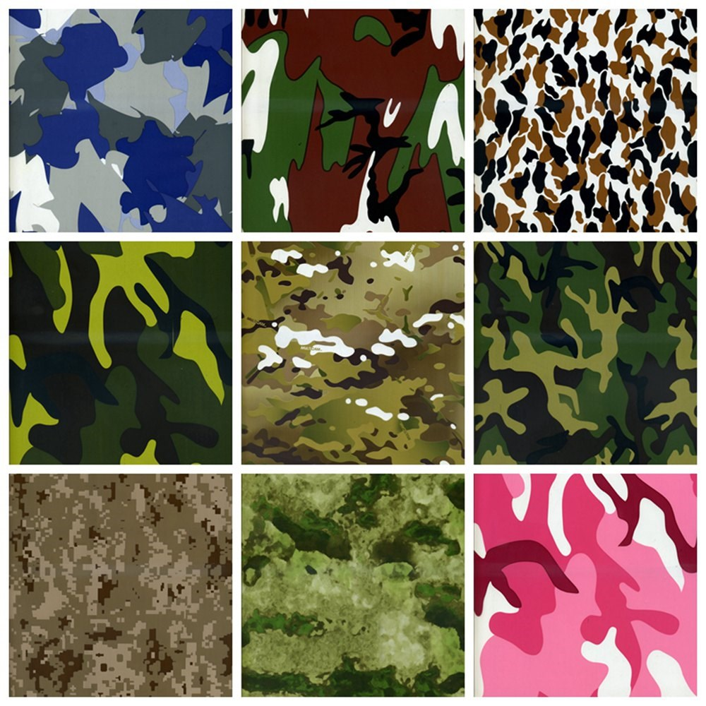 Hot Selling Camouflages Pattern Water Transfer Printing Film Hydrographics Film