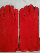 BC grade 14' long cow split leather welding glove cheap Hand Protection Welding Glove