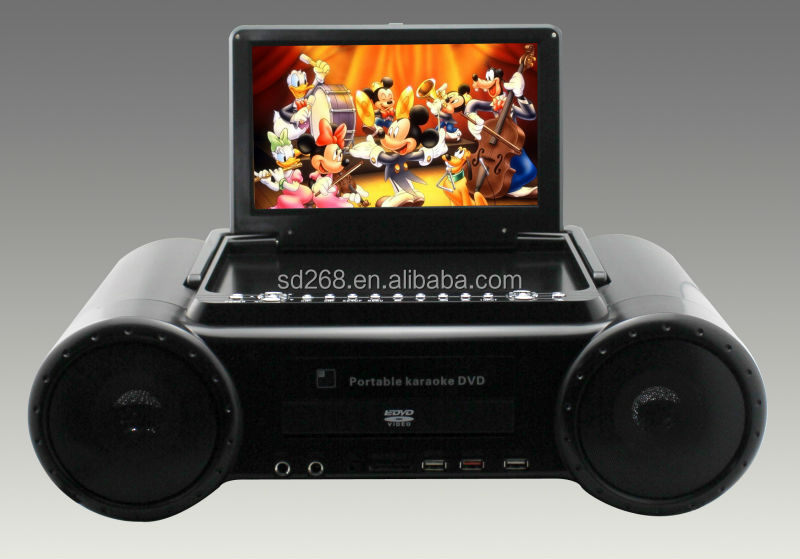 New model 10inch Karaoke dvd player with TV Tuner