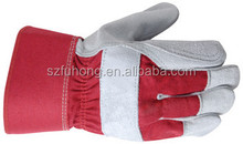 Split cowhide leather gloves / heavy duty safety gloves for construction