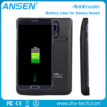 external cell phone case Power Pack Backup 4800mAh Battery Case For Samsung Galaxy Note 4 with bulk price
