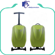 sky travel air express hard case spinner luggage suitcase with scooter