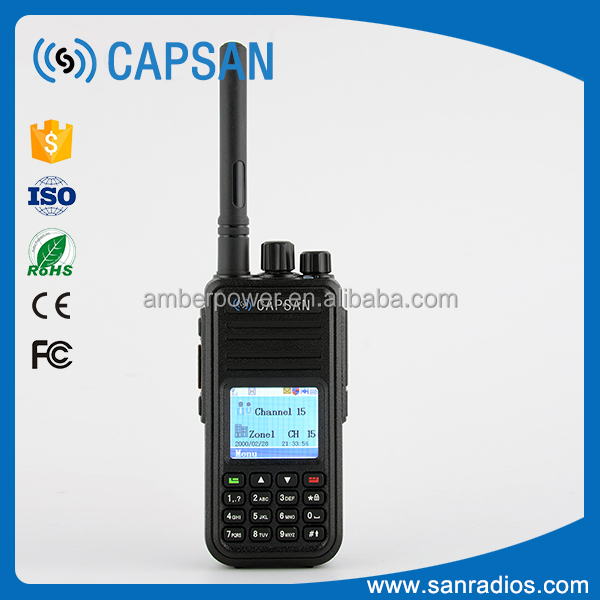 High performance VHF UHF license free 2-way radio with 2000mAh li-ion battery