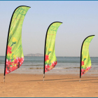 CUSTOM outdoor promotional portable feather beach flag pole