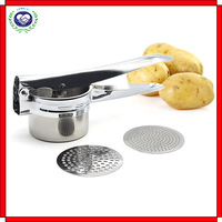 Amazon hot seller Potato Ricer, Larger Stainless Steel Potato Press with Longer Padded Handles, Free Recipe Download