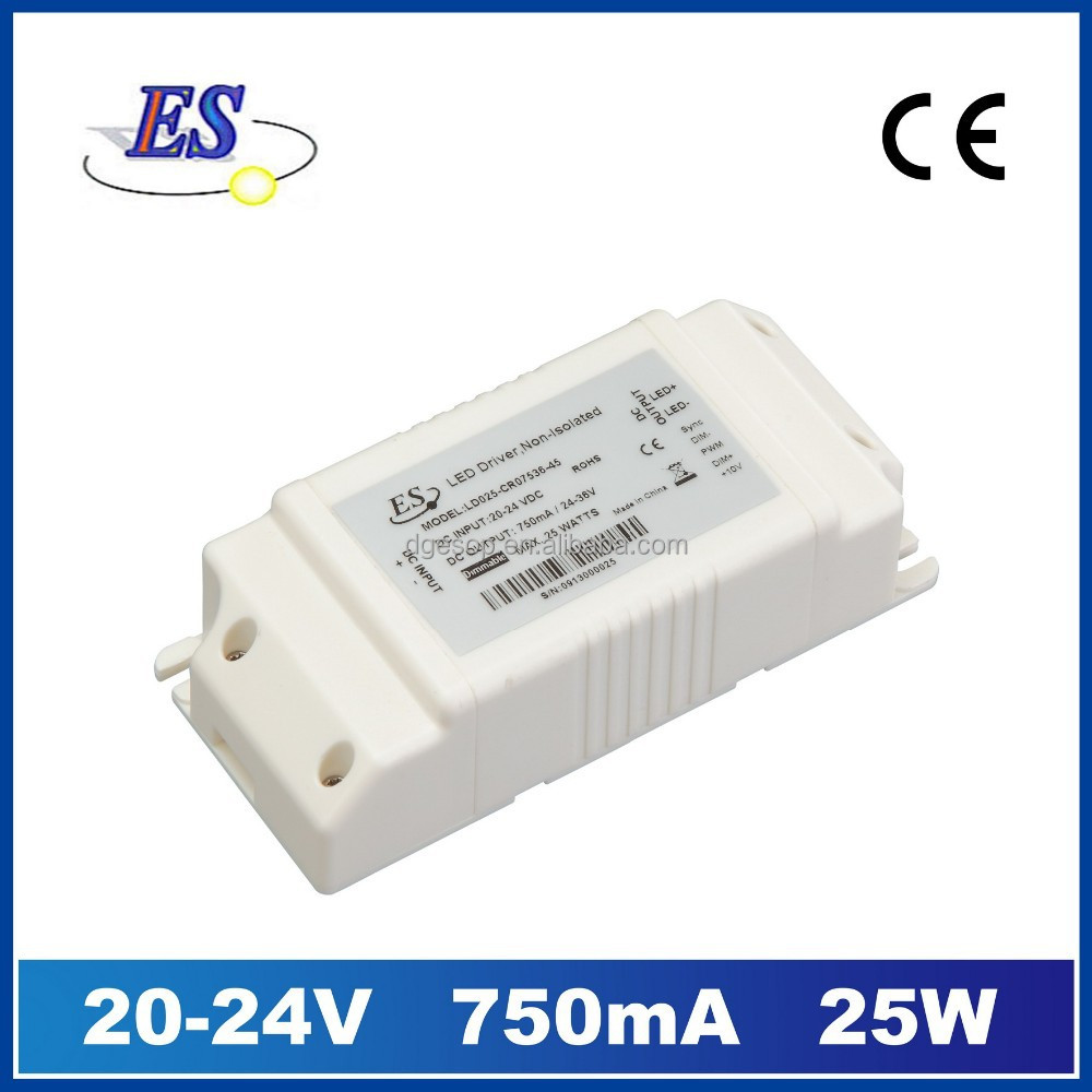 25W / 350-750mA DC-DC Constant Current LED Driver