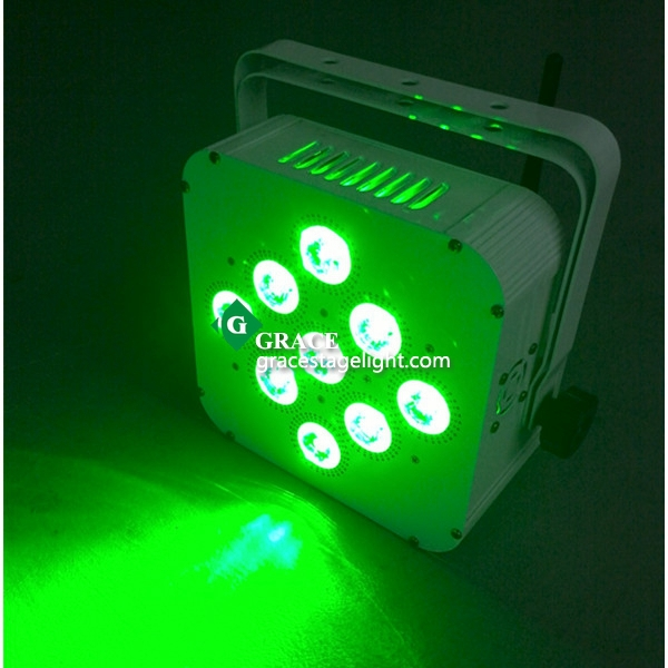 wireless dmx led battery par can 9x15 rgbwa 5in1