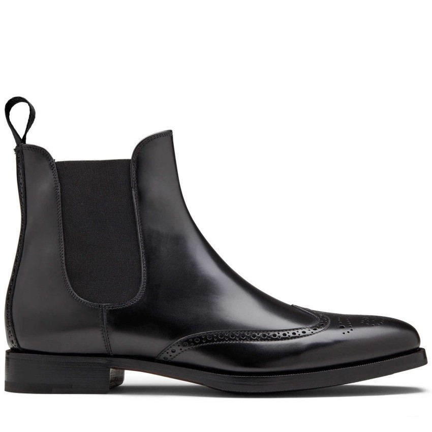 Italy design fashion genuine leather men chelsea boots