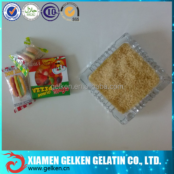 200 bloom food grade gelatin bovine skin gelatin for gummy candy with high viscosity