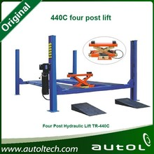 Optional electric jack, pneumatic jack or manual jack Car Lift 440C Four Post Lift