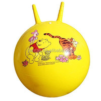 PVC inflatable ball jumping ball with cute cartoon sticker
