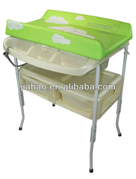 removable baby bath station with bath tub and sofe changing table baby product