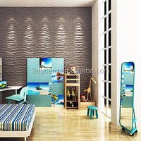 Modern design wallpaper 3d effect wood wall panel 3d board wall decoration