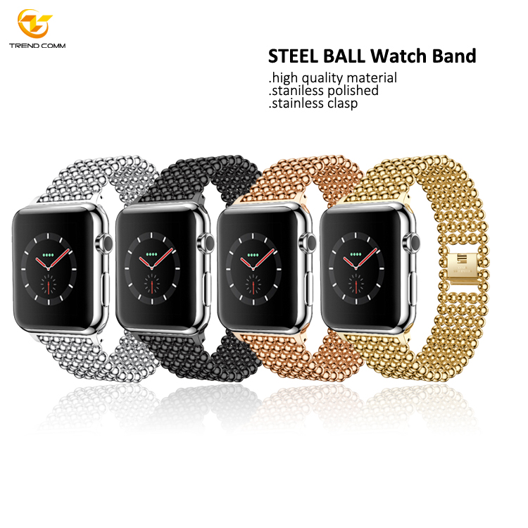 38mm 42mm Men Women Copper For Apple Smart Metal Strap Stainless Steel Watch Band